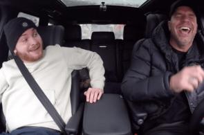 Donnie bij Andy in de auto