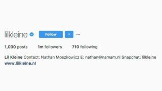Lil Kleine behaalt 1 miljoen volgers op Instagram